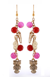 Vogue Crafts and Designs Pvt. Ltd. manufactures Pink and Maroon Earrings at wholesale price.