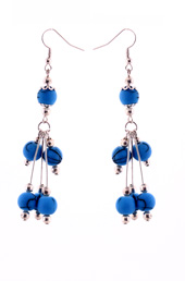 Vogue Crafts and Designs Pvt. Ltd. manufactures Blue Sticks Earrings at wholesale price.