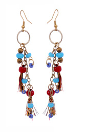 Vogue Crafts and Designs Pvt. Ltd. manufactures Circle and Tassels Earrings  at wholesale price.