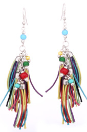 Vogue Crafts and Designs Pvt. Ltd. manufactures Threaded Tassels Earrings at wholesale price.