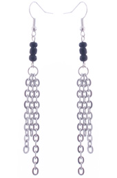 Vogue Crafts and Designs Pvt. Ltd. manufactures Black and Chain Tassel Earrings at wholesale price.