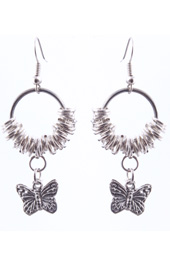 Vogue Crafts and Designs Pvt. Ltd. manufactures Butterfly and Rings Earrings at wholesale price.