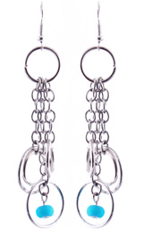 Vogue Crafts and Designs Pvt. Ltd. manufactures Circled Silver Earrings at wholesale price.