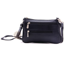 Vogue Crafts and Designs Pvt. Ltd. manufactures Black Roomy Sling Bag at wholesale price.