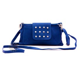 Vogue Crafts and Designs Pvt. Ltd. manufactures Blue Swing Sling Bag at wholesale price.