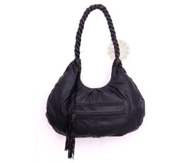 Vogue Crafts and Designs Pvt. Ltd. manufactures Braided Black Hobo Bag at wholesale price.