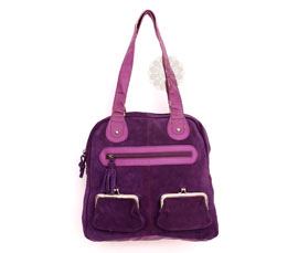 Vogue Crafts and Designs Pvt. Ltd. manufactures Purple and Pink Shoulder Bag at wholesale price.
