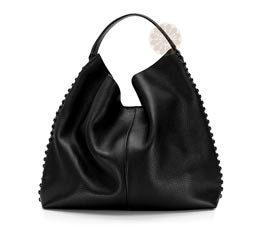 Vogue Crafts and Designs Pvt. Ltd. manufactures Black Hobo Bag at wholesale price.