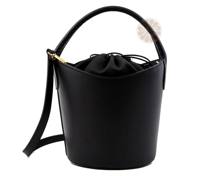 Vogue Crafts & Designs Pvt. Ltd. manufactures Black Comfortable Bucket Bag at wholesale price.