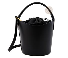 Vogue Crafts and Designs Pvt. Ltd. manufactures Black Comfortable Bucket Bag at wholesale price.