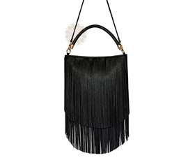 Vogue Crafts and Designs Pvt. Ltd. manufactures Black Fringe Sling Bag at wholesale price.