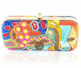 Vogue Crafts and Designs Pvt. Ltd. manufactures Multicolor Designer Clutch at wholesale price.