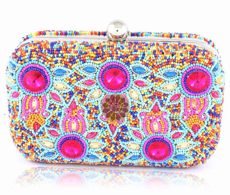 Vogue Crafts & Designs Pvt. Ltd. manufactures Designer Beaded Clutch at wholesale price.