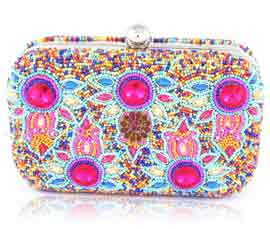 Vogue Crafts and Designs Pvt. Ltd. manufactures Designer Beaded Clutch at wholesale price.