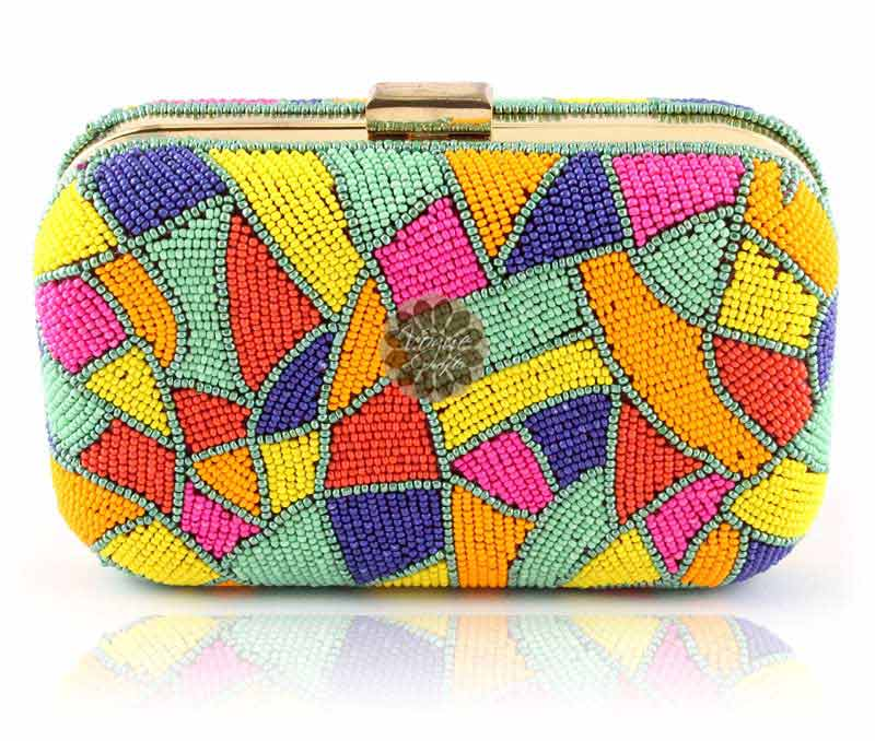 Vogue Crafts & Designs Pvt. Ltd. manufactures Fancy Beaded Clutch at wholesale price.