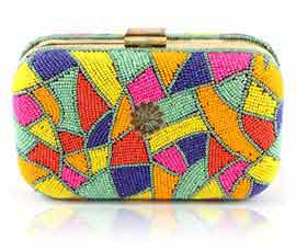 Vogue Crafts and Designs Pvt. Ltd. manufactures Fancy Beaded Clutch at wholesale price.
