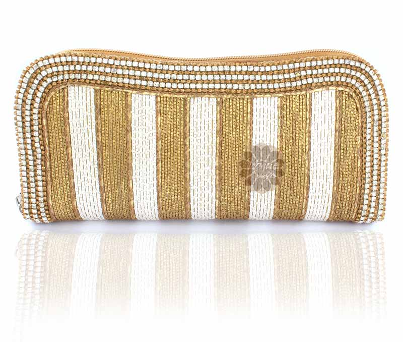Vogue Crafts & Designs Pvt. Ltd. manufactures Fancy Women Beaded Clutch at wholesale price.