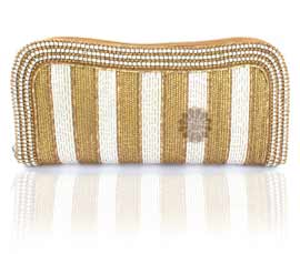 Vogue Crafts and Designs Pvt. Ltd. manufactures Fancy Women Beaded Clutch at wholesale price.
