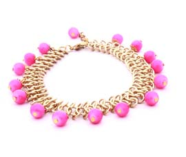 Vintage Golden and Pink Anklet