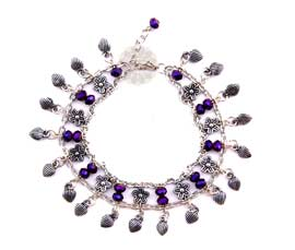 Vogue Crafts and Designs Pvt. Ltd. manufactures Floral Charm Anklet at wholesale price.