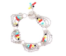 Vogue Crafts and Designs Pvt. Ltd. manufactures Multi-strand Beaded Anklet at wholesale price.