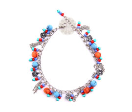 Vogue Crafts and Designs Pvt. Ltd. manufactures Multicolor Floral Anklet at wholesale price.