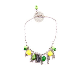 Vogue Crafts and Designs Pvt. Ltd. manufactures Floral Green and Yellow Anklet at wholesale price.