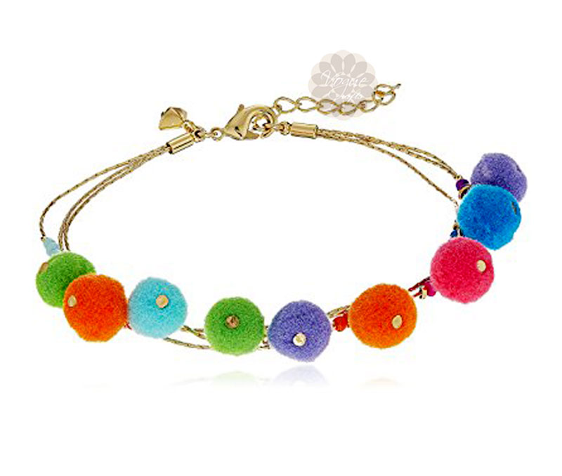 Vogue Crafts & Designs Pvt. Ltd. manufactures Multicolor Sweet Pom Pom Anklet at wholesale price.