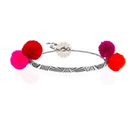 Vogue Crafts and Designs Pvt. Ltd. manufactures Red and Pink Pom Pom Anklet at wholesale price.