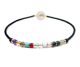 Vogue Crafts and Designs Pvt. Ltd. manufactures Multicolor Bead Anklet at wholesale price.
