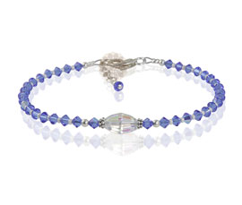 Vogue Crafts and Designs Pvt. Ltd. manufactures Purple Beads Anklet at wholesale price.