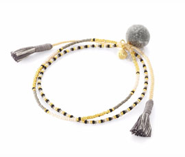 Vogue Crafts and Designs Pvt. Ltd. manufactures Grey Pom Pom and Tassel Anklet at wholesale price.