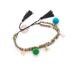 Vogue Crafts and Designs Pvt. Ltd. manufactures Pom Pom and Charm Anklet at wholesale price.