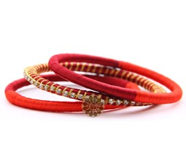 Vogue Crafts and Designs Pvt. Ltd. manufactures Traditional Red Bangle Stack at wholesale price.