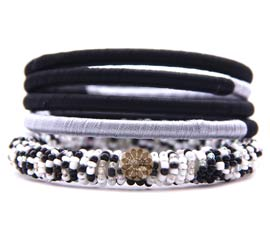 Vogue Crafts and Designs Pvt. Ltd. manufactures Thread and Bead Bangle Stack at wholesale price.