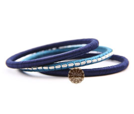 Vogue Crafts and Designs Pvt. Ltd. manufactures Blue Thread Bangle Stack at wholesale price.