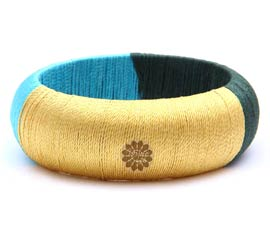 Vogue Crafts and Designs Pvt. Ltd. manufactures Multicolor Thread Bangle at wholesale price.