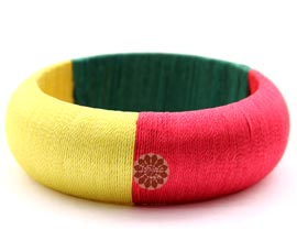 Vogue Crafts and Designs Pvt. Ltd. manufactures Multicolor Thread Thick Bangle at wholesale price.