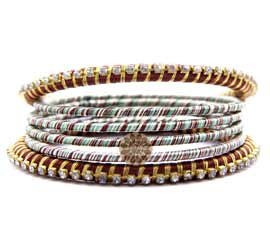 Vogue Crafts and Designs Pvt. Ltd. manufactures Ethnic Bangle Stack at wholesale price.