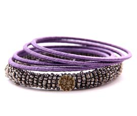 Vogue Crafts and Designs Pvt. Ltd. manufactures Purple Thread Bangle Stack at wholesale price.