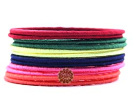 Vogue Crafts and Designs Pvt. Ltd. manufactures Multicolor Thread Bangle Stack at wholesale price.