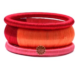 Vogue Crafts and Designs Pvt. Ltd. manufactures Multicolor Silk Bangle Stack at wholesale price.
