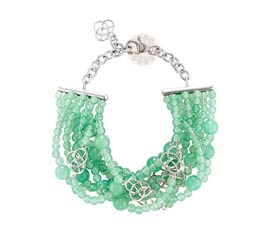 Vogue Crafts and Designs Pvt. Ltd. manufactures Green Love Charms Bracelet at wholesale price.