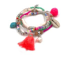 Vogue Crafts and Designs Pvt. Ltd. manufactures Sea Life Stack Bracelet at wholesale price.