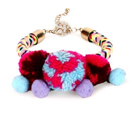 Vogue Crafts and Designs Pvt. Ltd. manufactures Multicolor Fancy Spring Bracelet at wholesale price.