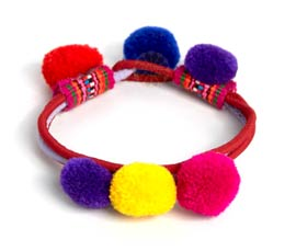 Vogue Crafts and Designs Pvt. Ltd. manufactures Multicolor Pom Pom Funk Bracelet at wholesale price.