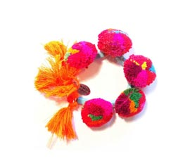 Vogue Crafts and Designs Pvt. Ltd. manufactures Multicolor Summer Tassel Bracelet at wholesale price.