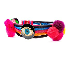 Vogue Crafts and Designs Pvt. Ltd. manufactures Multicolor One Eye Bracelet at wholesale price.