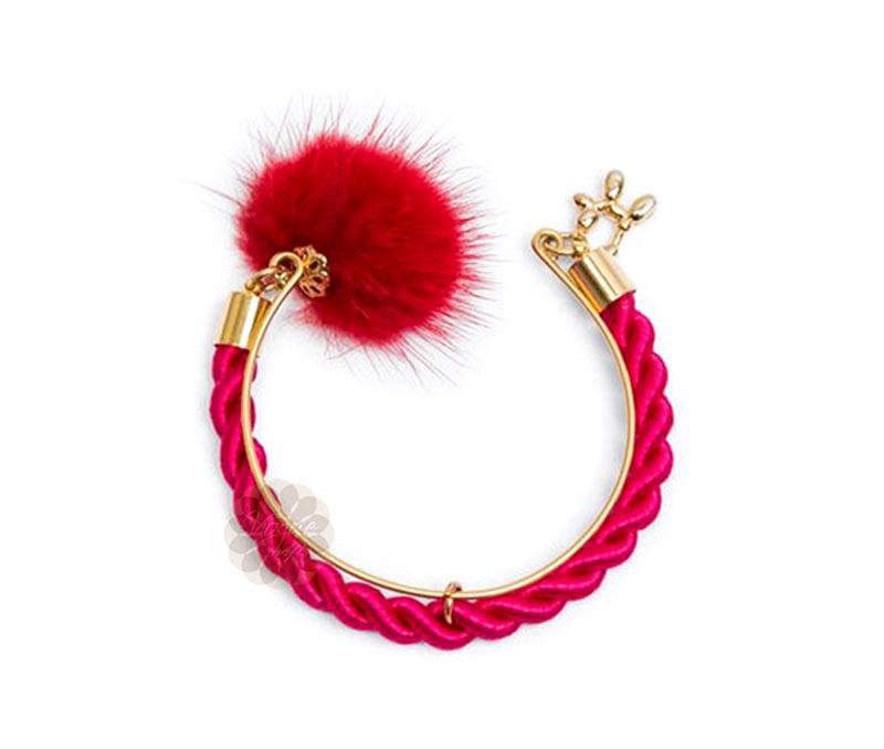 Vogue Crafts & Designs Pvt. Ltd. manufactures One Pom Pom Pink Bracelet at wholesale price.