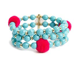 Vogue Crafts and Designs Pvt. Ltd. manufactures Thick Blue Bracelet at wholesale price.